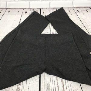 J. Jill Slim Leg Pure Jill Grey Knit Pants Small
